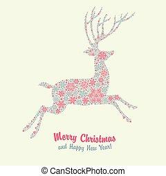 Tarjeta de venado de Navidad