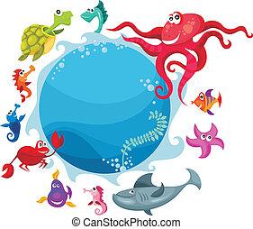 Tarjeta de vida marina