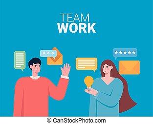 tarjeta, equipo de trabajo