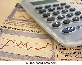 Tarjeta financiera y calculadora
