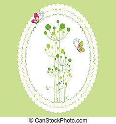 Tarjeta floral de primavera