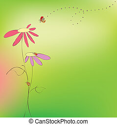Tarjeta floral de verano