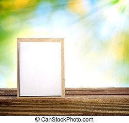 Tarjeta hecha a mano con rayo solar