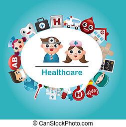 Tarjeta médica y hospitalaria