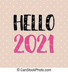 tarjeta, polca, hola, plano de fondo, puntos, pastel, diseño, 2021, vector