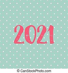 tarjeta, vector, puntos, 2021, polca, plano de fondo, pastel