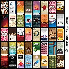 tarjetas, 40, empresa / negocio, colección