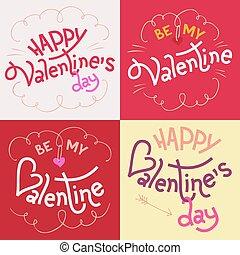 Tarjetas de cartas de cartas de San Valentín