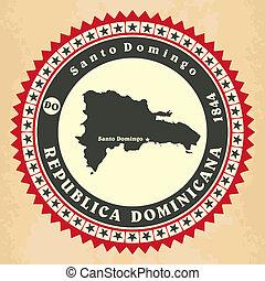 Tarjetas de etiqueta antigua de la República Dominicana.