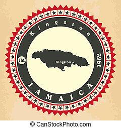 Tarjetas de etiqueta de Jamaica.