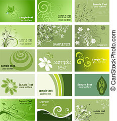 tarjetas, naturaleza, empresa / negocio, themed