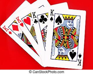 tarjetas, rey, 4