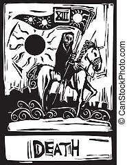 tarot, muerte, tarjeta