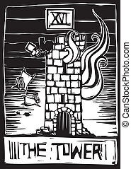 tarot, torre
