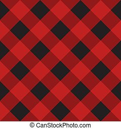 tartán, seamless, vector, tartán, patrón, negro, a cuadros, escocés