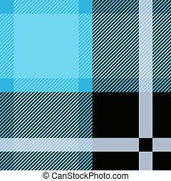 Tarta azul, patrón escocesa sin costura. Escocesa textual