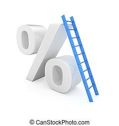 tasa, crecimiento, interés