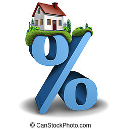 tasa de interés, hipoteca