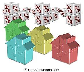 tasas, hipoteca, interés