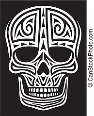 tattoo), ornamento, (skull, cráneo