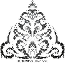 Tatuaje de arte tribal al estilo maorí