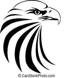 Tatuaje de cabeza de águila
