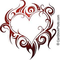 Tatuaje en forma de corazón