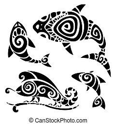 Tatuaje tribal.