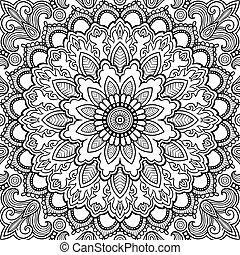 Tatuaje vector Mandala. Islam, árabe, indio, asiático.