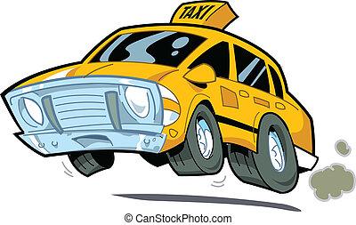taxi, exceso de velocidad