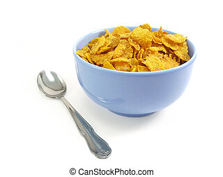 Tazón de cereal con cuchara