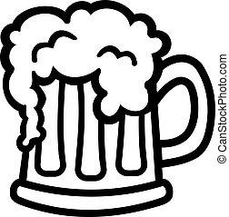 Taza de cerveza de dibujos animados