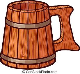 Taza de cerveza de madera