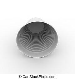 Taza de plástico blanco