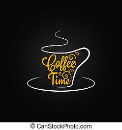 taza para café, diseño, plano de fondo, señal