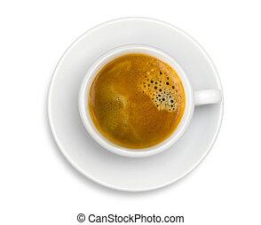 taza para café, espresso, aislado, plano de fondo, blanco