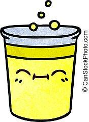 taza, peculiar, mano, caricatura, dibujado, limonada