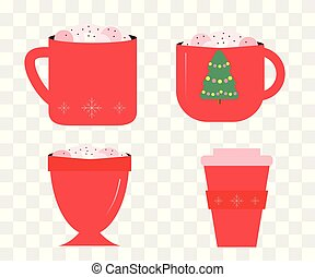 tazas de café de Navidad.