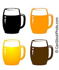 Tazas de cerveza
