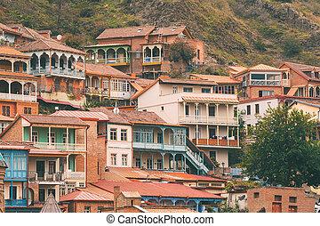 Tbilisi, Georgia. Distrito residencial de la vieja ciudad