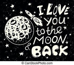 Te quiero a la luna y a la espalda