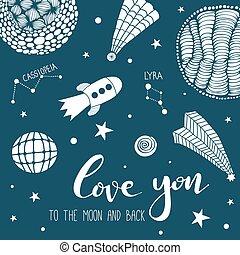 Te quiero a la luna y bac