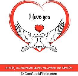 Te quiero, corazón rojo