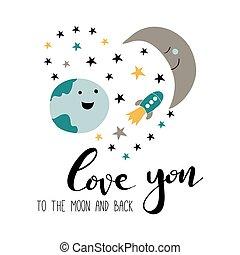 Te quiero hasta la luna y de vuelta