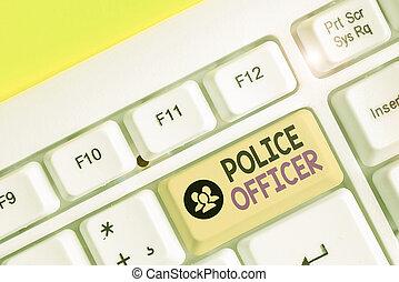 team., se manifestar, escritura, texto, ley, oficial, concepto, policía, significado, officer., escritura, aplicación