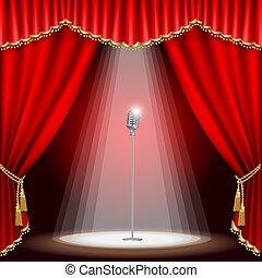 Teatro con micrófono