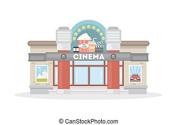 Teatro de cine aislado.