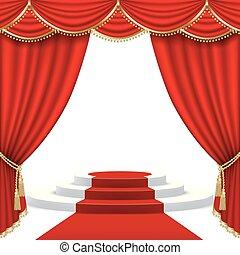 Teatro escenario. Mesh.
