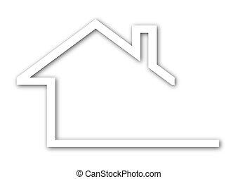 techo, casa, aguilón