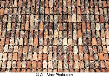 techo, plano de fondo, embaldosado